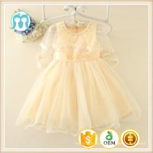 Aprikose Kinder Kleidung hohe Qualität Großhändler Fabrik Kinder Kleidung Handel Versicherung Hersteller Party Xmas Kleid