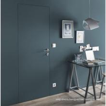Customized oak latest design wooden doors invisible doors for hiding