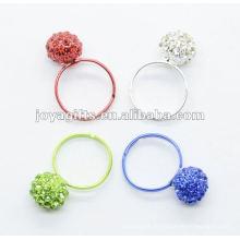 Тканое кольцо из хрустального шарика