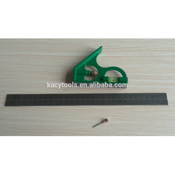 Stahl-Kombination Winkel Lineal, Metall quadratischen Lineal, Stahl Kombination Winkel 61022