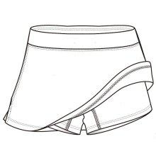 Kurzer Hosen-Tennisrock für Frauen