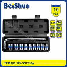 "10PC China Cheap Price10PCS 1/2"" Socket Set with Repair Tool"