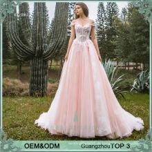Elegante Abendkleider Abend tragen blush rosa Partykleid Designs Kittel für Erwachsene