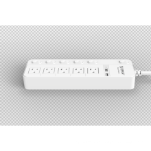 ORICO SPC-S5U2 US Socket Power Strip 5 AC 2 USB Surge Protector