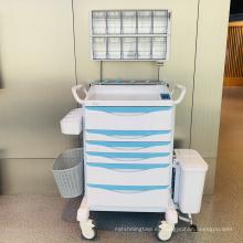 Carro de anestesia ABS de acero con sistema de entrada sin llave