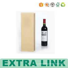 Deluxe Black 6 Bottle Corrugated Gift Wine Paper Packaging Box