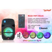 """2016 Самый новый 15 """"Профессиональный сабвуфер Bluetooth-диктор с USB SD FM FM-пульт дистанционного управления F23t"""