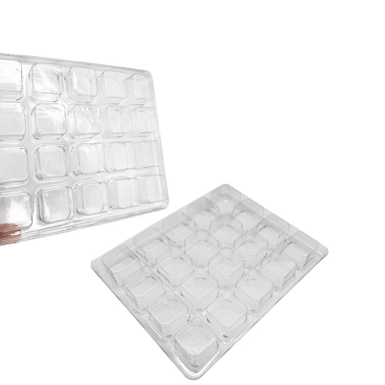Transparent Kunststoff 20 Cell Clear Chocolate Insert Tray