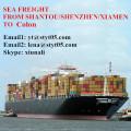 Shantou mejores tarifas de flete marítimo a Colón