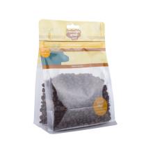 Packaging Food Grade Flat Bottom Zip Lock Plastic Bags for Coffee Nut Snack Pet Food Packaging