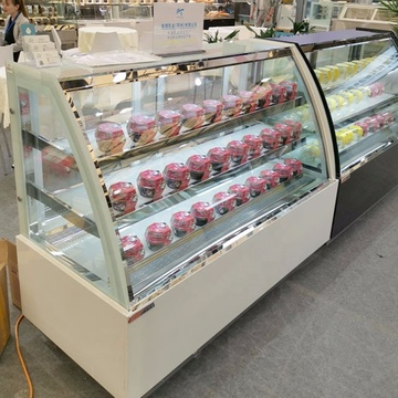fruta comercial popsicle deli display refrigerador escaparate