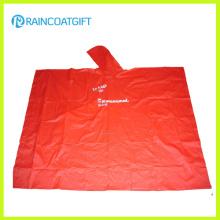 Poncho feito sob encomenda da chuva do PVC do tipo do logotipo para a promoção