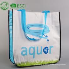 Sacola de compras tecida pp reutilizável