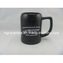 Keramik Bierkrug, 500ml Schwarz Keramik Bierkrug