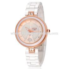 Reloj elegante blanco barato resistente al agua de la venda de la venda