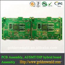 Alta qualidade de alumínio pcb / PCB LED / MC PCB feita no processo de fabricação pcb China ppt