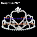 Crystal Heart Shaped Pageant Kronen
