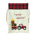 Decoraciones de Navidad Santa Sack Plaid Car