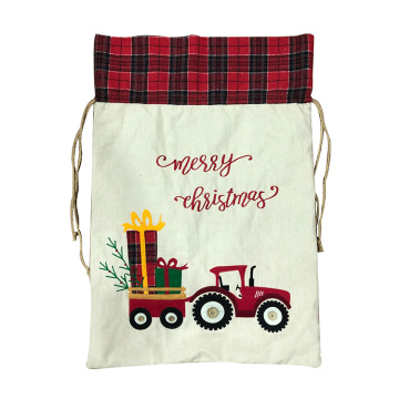 Weihnachtsdekorationen Santa Sack Plaid Car