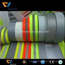 3м fluoresecnt зеленый лайм светоотражающие лямки лента / клетчатый инфракрасная светоотражающая лента