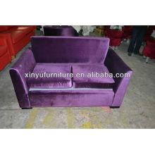 Purple fabric wooden hotel sofa XY0990