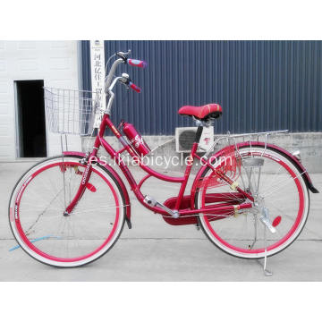 Bicicleta color City Bicycle Lady con funda de cadena