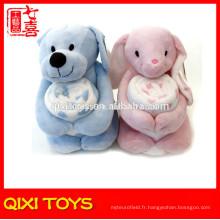 ours / lapin bébé câlin couverture en peluche avec couverture