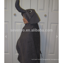 Elephant Hooded Towel, 100% cotton,Super Soft and Absorbent