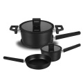 3.0mm Stocked Feature and Metal Material Nonstick Marble cookware set