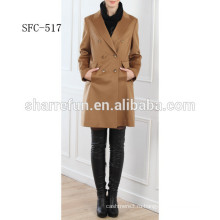 Китай завод лучшие продажи slimfit женские 100% кашемир пальто