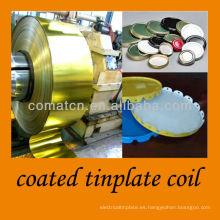 bobina de hojalata recubiertos de cristal twist off y producción de la corona