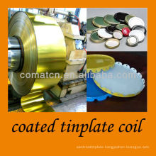 coated tinplate coil for twist off and crown cap production