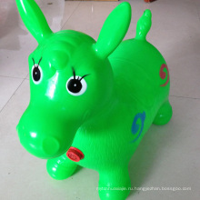 Зеленый Лошадь Хоппер, Включенный Насос (Надувная Лошадь Конька, Космический Бумпер, Поездка на Bouncy Animal