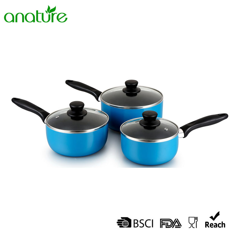 Aluminum Pressed Interior Black Nonstick Coated Milk Pot