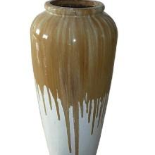 outdoor indoor Green ceramic round flower pot
