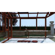 Sala de sol de vidro exterior de alumínio do jardim do inverno
