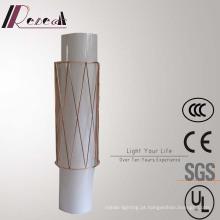 Lâmpada de parede acrílica decorativa da cabeceira do cobre do cilindro do hotel europeu