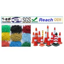 Materiais de grânulos de PVC para cone de tráfego rodoviário