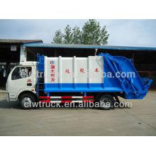Dongfeng 3 ton compactor camión de basura, 4x2 camión de basura para la venta en Pakistán