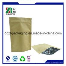 Kraft Paper Ziplock Chia Seeds Bag for Wholesale