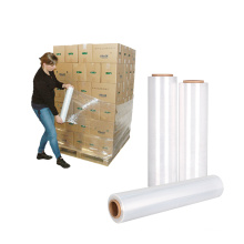 """18"""" x 1500 ft Clear Pack Pallet Cast LLDPE Polyethylene Hand Stretch Wrap Film"""