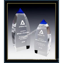 Blue Crystal Award Vertex Tower for Player 9 Inch Tall
