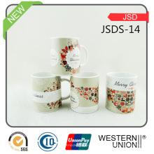 Las tazas de café de venta calientes de Christma pueden Costomized