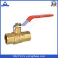 Фабричный оригинальный латунный латунный цветной латунный водяной клапан с длинной стальной ручкой в клапане (YD-1025)