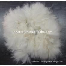 Кольчатый Ангорский Кролик волосы в белый цвет Ранг AAA 65мм