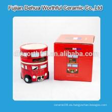 Taza de cerámica con diseño de autobús de Londres