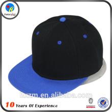 Adjustable flat brim snapback hat
