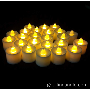 led warm yellow light pillar candle