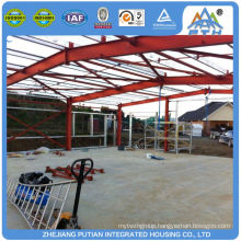 Easy build affordable certificated prefab warehouse