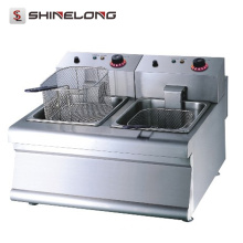 K016 Healthy Chip Fryer With Double Basket Counter Top Fish and Chips Fryers